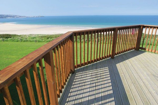 Commercial deck offering great views of the sea