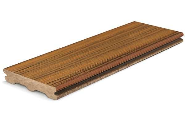 Contour grooved edge board