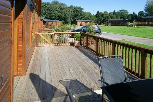 Caravan and leisure park decking