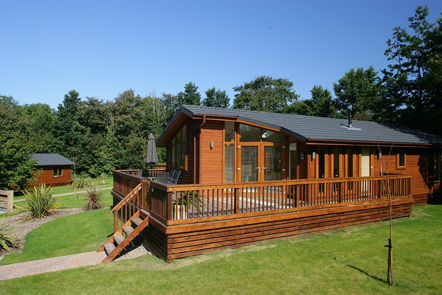 Raised decking for caravan and leisure parks