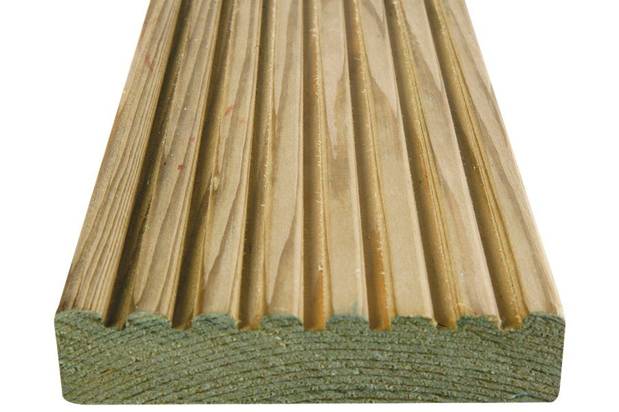 Smooth & Grooved Reversible Board - 27x118