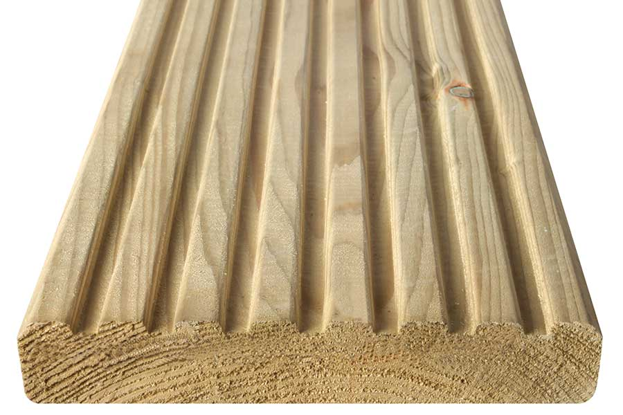 Smooth and grooved reversible board - 27x145