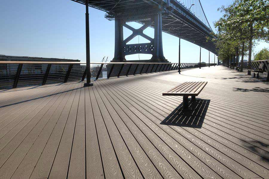 Trex commercial decking on a pier