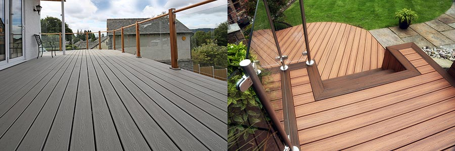 Trex composite decking in different colours