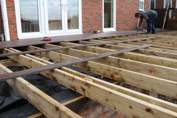 Installing timber substructure