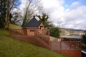 Multi level Trex decking installed by MJL designs
