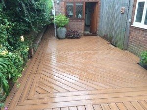 Framed Trex deck - Paul Cox Landscaping
