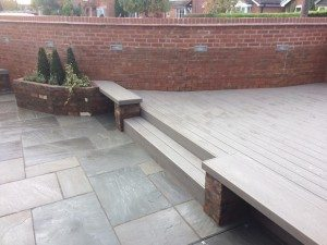 Trex deck with steps and bench seating Paul Cox