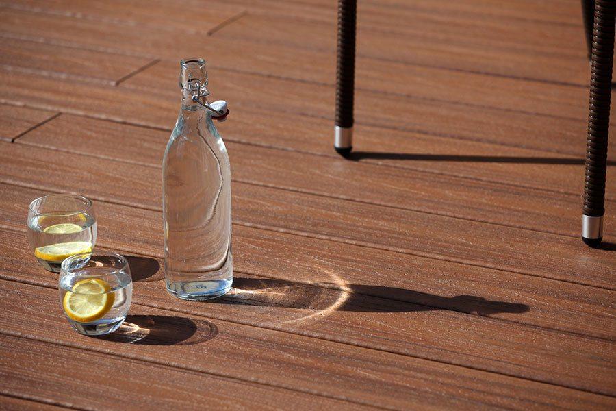 Tiki Torch Trex Transcend composite decking