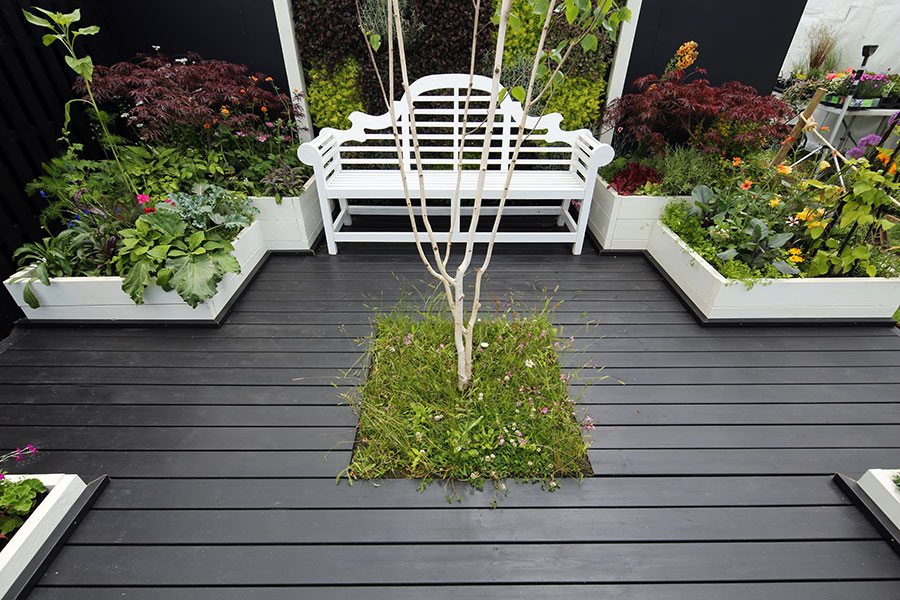 Painted timber deck boards