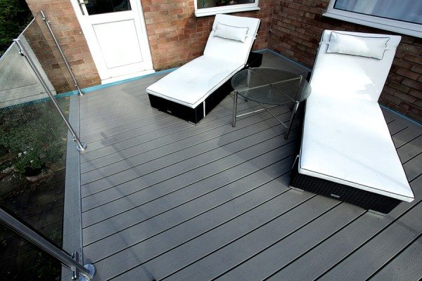 A place to relax with Trex Transcend composite decking in Gravel Path