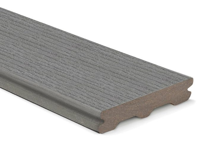 Trex Contour Pebble Grey grooved board