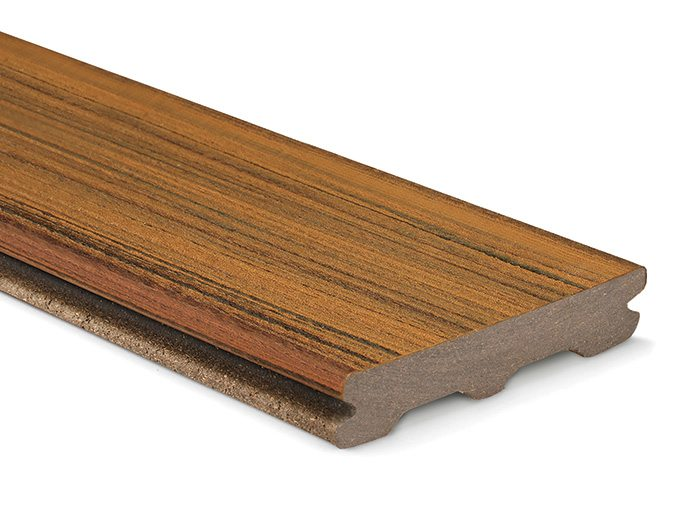 Trex Contour Torino Brown grooved board