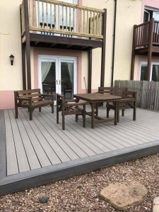 small seated decking area