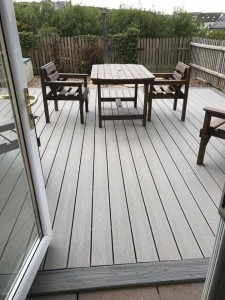 large Decking area for seating area