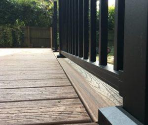 Trex decking and black railings