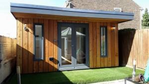 summerhouse made of trex