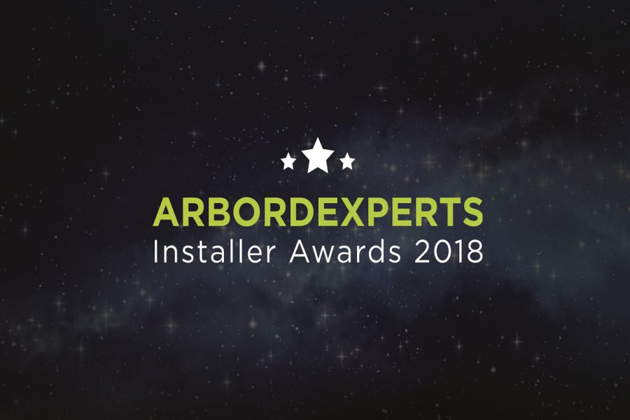 Arbordexperts installer awards 2018