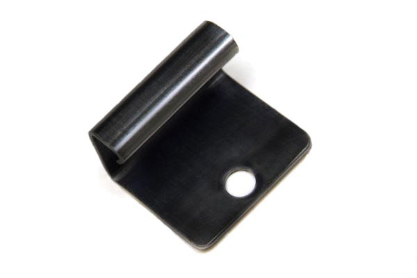 Metal starter clip on a white background