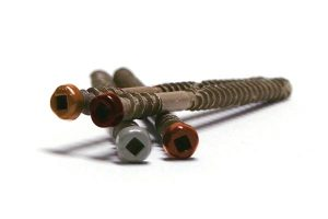 Colour match composite deck screws