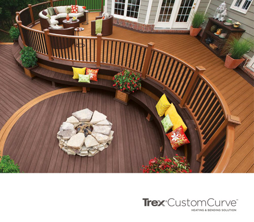 Trex Custom Curve Decking Example