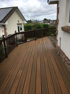 narrow raised decking