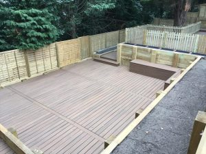 Enclosed lower decking area with decking seats