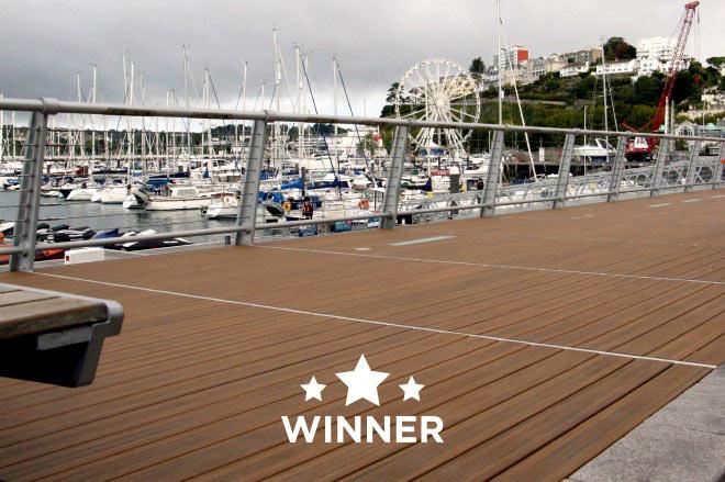 Arbordexperts runner up - Torquay Marina decking