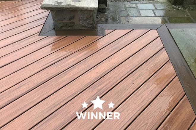 Arbordexpert winner for best large deck - decking floor