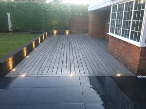 Long island mist deck with solar light bottom view