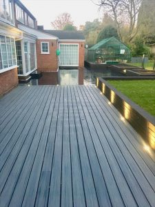 Long island mist deck with solar light top view