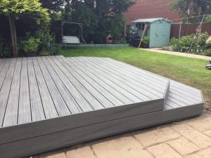 Raised Decking Area with Step