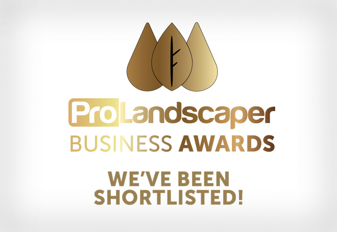 ProLandscapers awards - we've been shortlisted