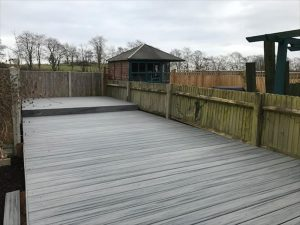 gardens raised decking walkway