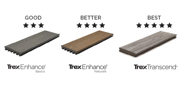 New Trex decking ranges