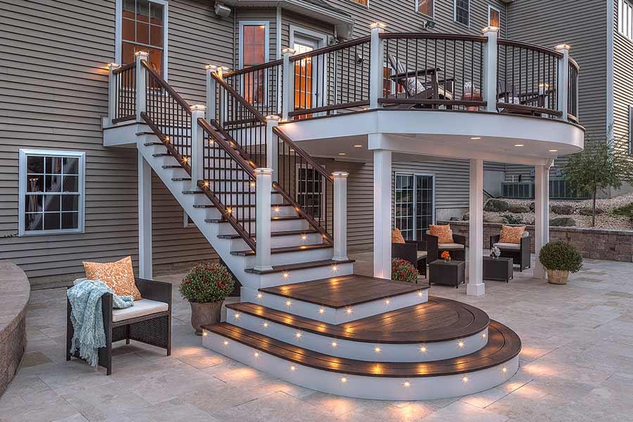 Deck using Trex RainEscape® Deck Drainage System