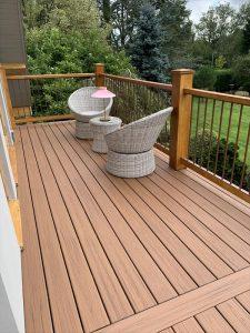 Brown Trex deck on balcony area