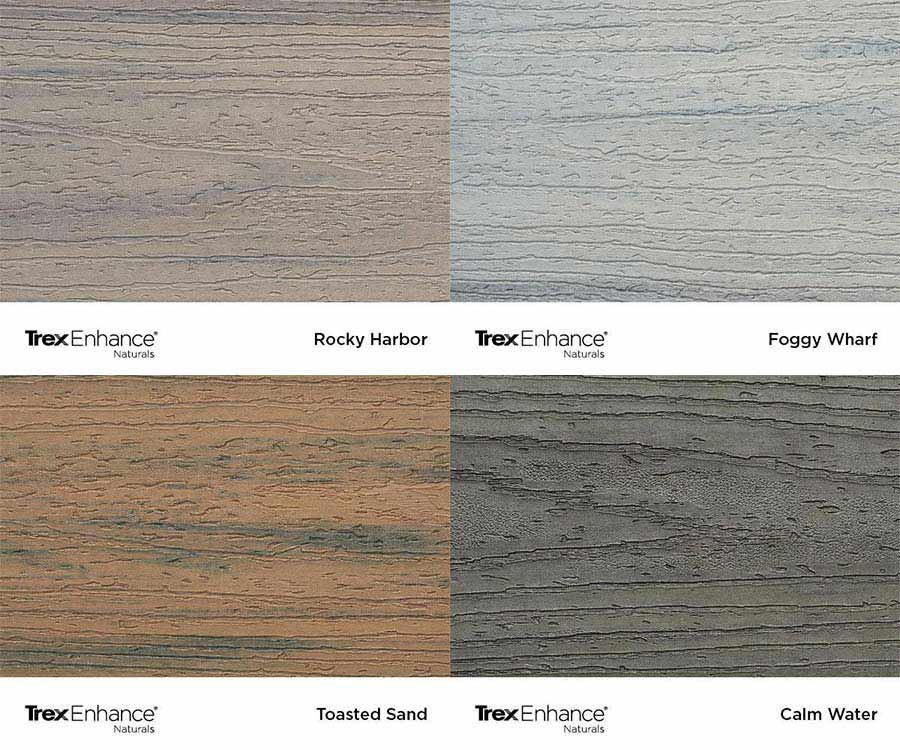Trex Enhance Naturals colour swatches