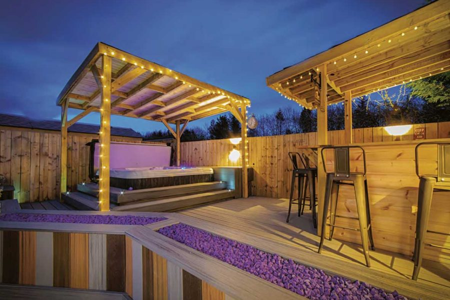 North Spas deck - Monkridge