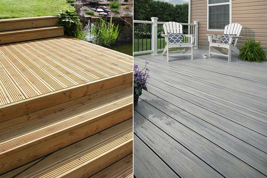 Timber vs composite decking