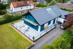 Modern house with Trex decking attached