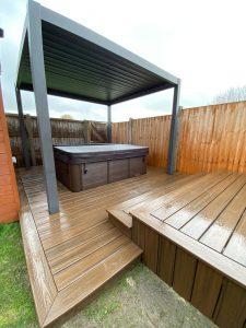 Trex deck around hot tub
