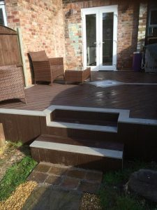 Trex decking with steps
