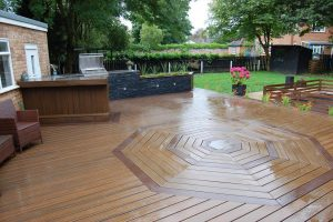 Trex decking used in an octagon design