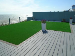Trex decking with a seaview