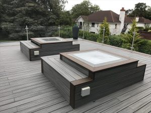 Trex decking used for seating area