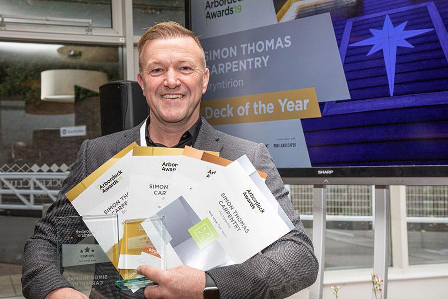 Simon Thomas at the 2019 Arbordeck Awards