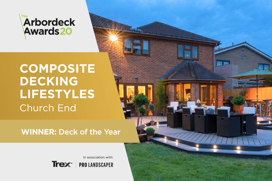 Composite decking lifestyles, Church End. Winner of Deck of the year.