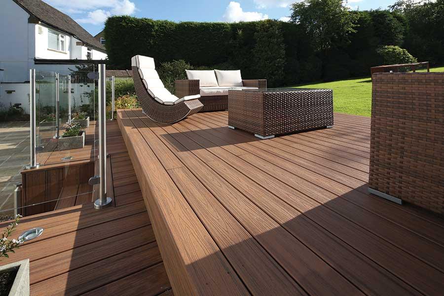 Trex decking lounge area