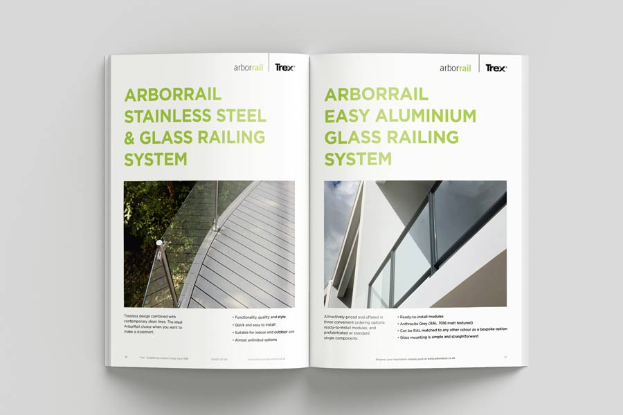 ArborRail products from Trex brochure